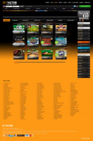 BetVictor Casino Site
