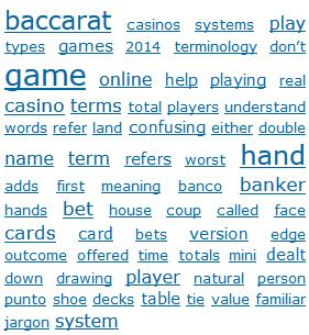 Baccarat terminology can be confusing